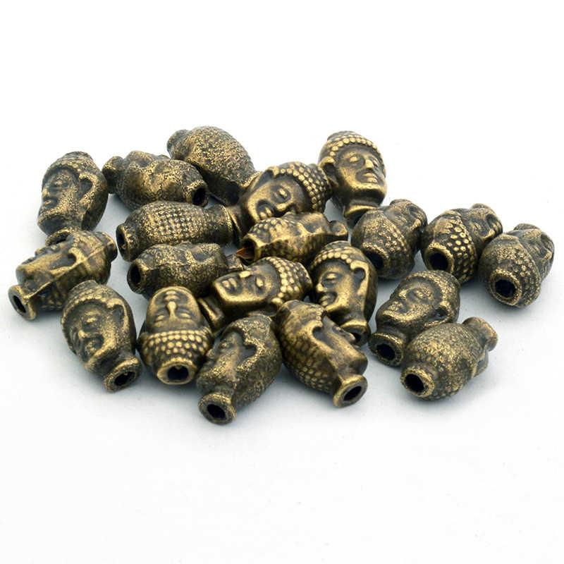 10 pcs 13mm Metal paciorki tybetański budda leopard głowy koralik biżuterii znalezienie Making DIY Handmade bransoletka akcesoria
