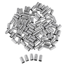 100pcs/Set 5mm Bicycle Bike Brake Wire Cable Housing Ferrule End Caps Cover Bike Brake Cable Protector Silver(China)