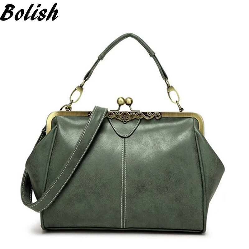 Bolish rétro PU cuir femmes sac à main petit sac à bandoulière de haute qualité sac fourre-tout petit sac de messager d'embrayage