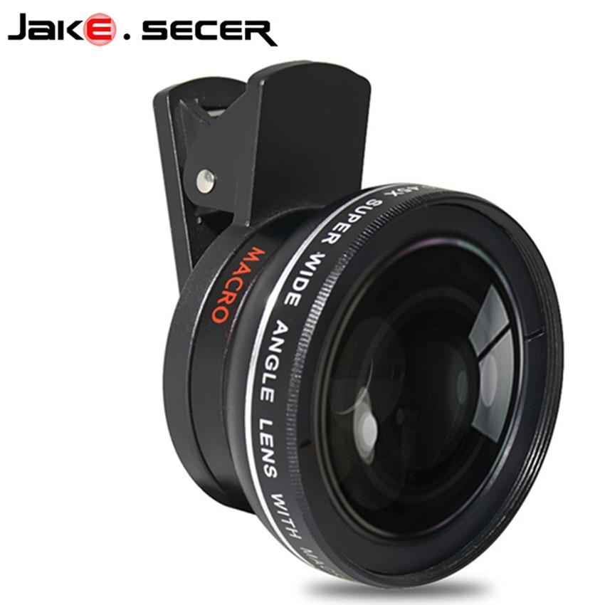 imágenes para Profesional 0.45x gran angular con super 10x macro lentes de teléfono móvil para samsung j5 iphone 7 8 plus universal lente de la cámara hd