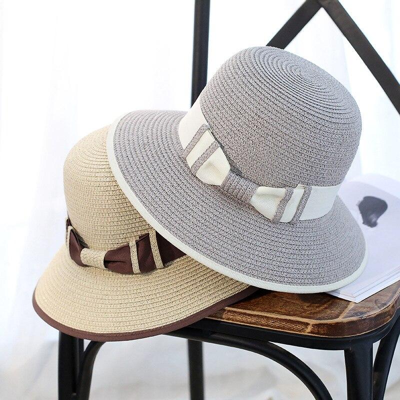 Stylish Fashion Women Foldable Wide Large Brim Beach Sun ...