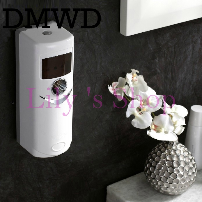 Automatic air freshener for hotel home toilet regular perfume sprayer machine diffuser deodorization aerosol fragrance dispenser car outlet perfume air freshener with thermometer lime