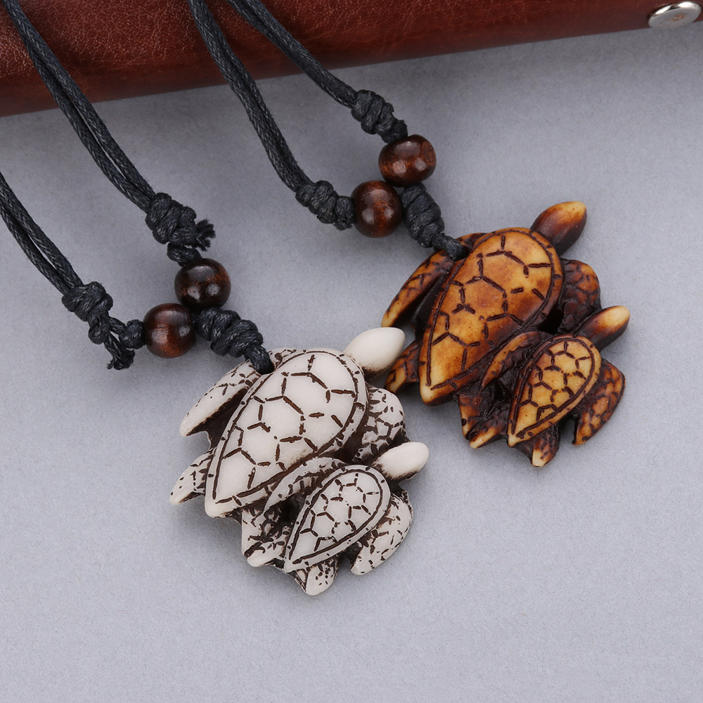 1pc New Charms Pendants Tribal Imitation Yak Bone White Brown Carved Turtle Necklace Amulet Vintage Blessing Unisex Gift Jewelry Pendant Necklaces Aliexpress