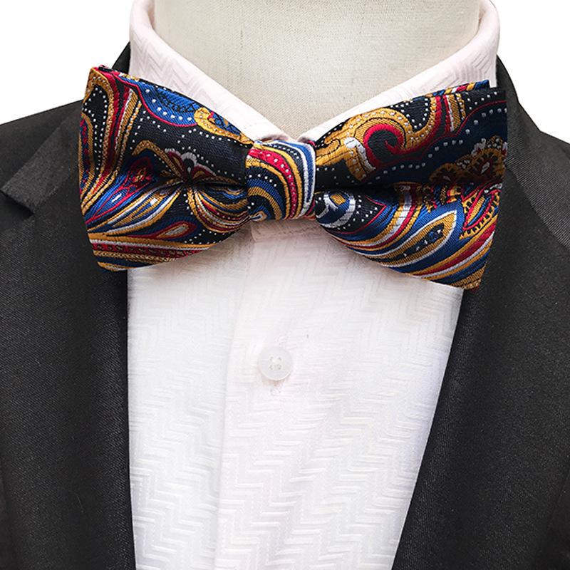 14 Color Men's Classic Polyester Silk Bow Ties Man Bowtie Floral Polka Dot Butterfly Bowknot Groom Wedding Accessories Bows