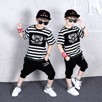 Boys Fashion Casual Sport Suit Clothing Set Print Short Sleeve Children's Set Boys Clothes 2019 Summer New 6 8 10 12 years