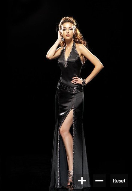 Inspired Busty long black perfect Prom Dress 2011-in Prom Dresses ...