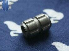 Paracord Beads EDC Titanium Alloy TA2 Six-sided Square Slot Knife Pendant Key Chain Flashlight Drop