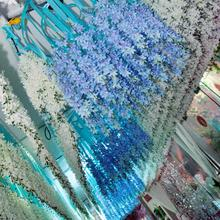 100pcs/lot Vivid Orchid Garland Sweet DIY 40cm Flower String Bonsai Decoration Wedding Party Banquet Supplies wd013