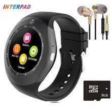 Ограниченное предложение 2017 последние interpad Android Смарт часы Bluetooth Телефонный звонок часы Шагомер нажмите сообщение SmartWatch для Xiaomi Samsung Huawei