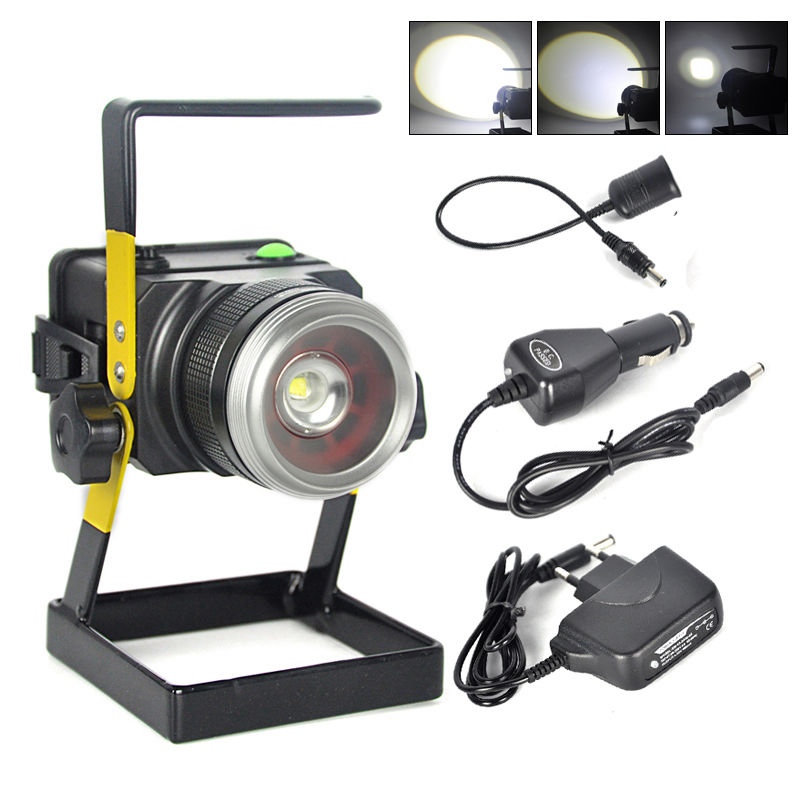 Waterproof 10W LED Floodlight Rechargeable Portable Emergency Work Lamp Flood Light Spotlight Camping Fishing Outdoor Lighting doc johnson kink solid anal balls черная анальная цепочка из 4 шариков page 3