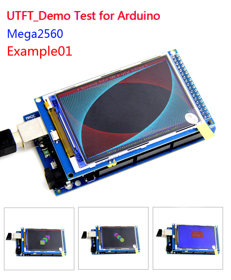 Free Shipping 5pcs/lot 3.2inch Color LCD Screen modules 320X480 HD LCD Modules support <font><b>Arduino</b></font> Mega2560 image