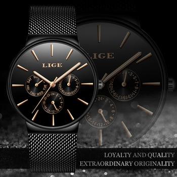 Top Brand Luxury Waterproof Ultra Thin Date Clock Male Steel Strap Casual Quartz Watch Men Sports Wrist Watch 1