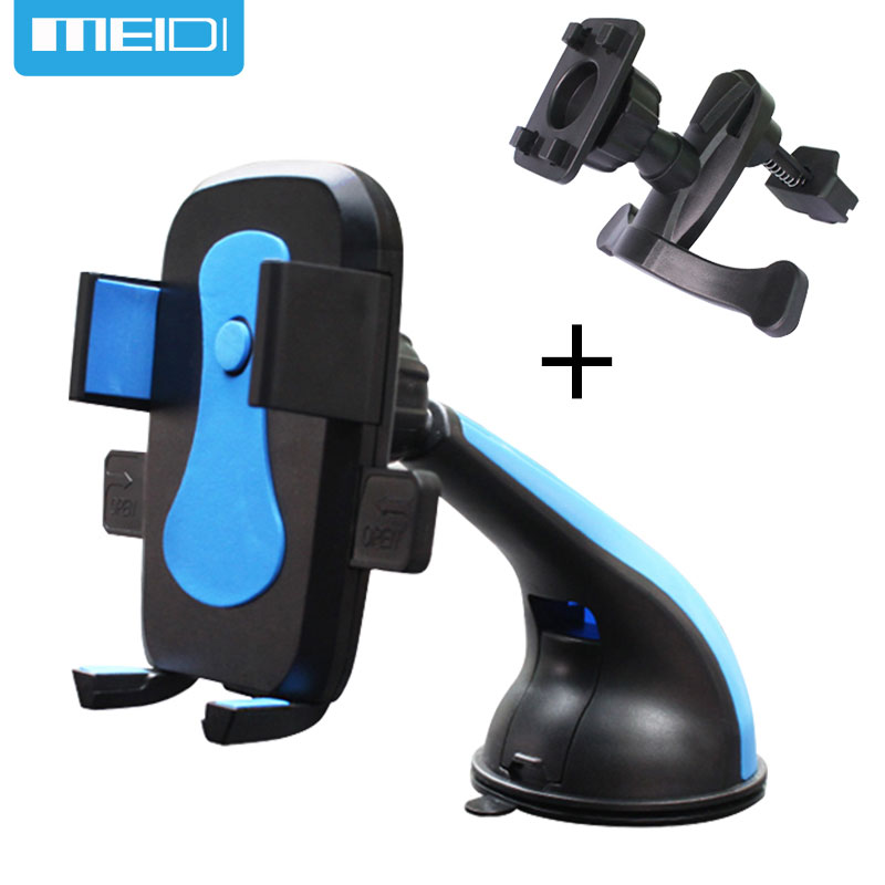 MEIDI Car Mobile Phone Holder Stand Air Vent Mount Slicone Sucker Windshield 360 Degree Rotation For Mobile iphone5 6S 7 Samsung baseus 360 degree rotation magnetic car mount holder gold