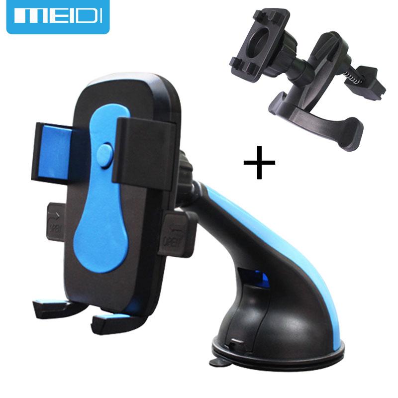 Meilleur achat ) }}MEIDI Car Mobile Phone Holder Stand Air Vent Mount Slicone Sucker Windshield 360 Degree