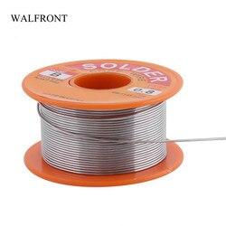 WALFRONT 0.6/0.8/1.0mm 50g 63/37 Rosin Core Solder Wire Flux 2% Tin Solder Iron Welding Wire Reel
