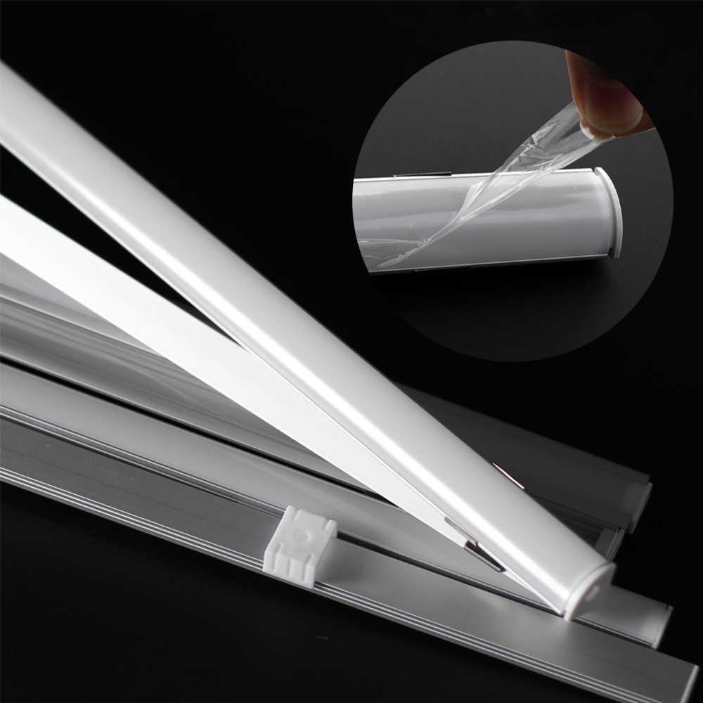 5 шт./партия светодиодный алюминиевый корпус 50 см U V YW стильный профиль для светодиодной ленты с молочным или прозрачным покрытием.