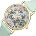 Ladies Watch Flowers Printing New Women Mens Watches Ceinture Homme Leather Quartz Casual Dress Motre Femme Luxe