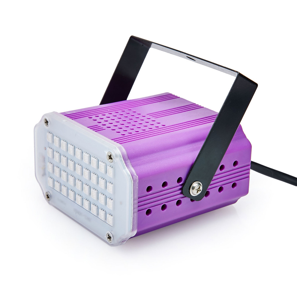 Mini Sound Control 36 SMD5050 LED Strobe Light Disco Party DJ Bar Light Music Show Projector Stage Lighting Effect