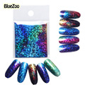 BlueZoo 1 Sheet 5cm*20cm Transfer Foil Nail Art Stickers Decals Blue Sky Symphony Sequin Nail Beauty Stickers DIY Decorations