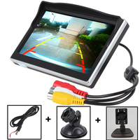 HD 800*480 5 Inch Car Monitor for Rear View Camera Display Auto Parking Backup Reverse Monitor tft lcd Screen 2 Mounts/Brackets
