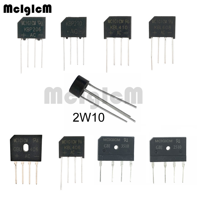 10pcs BRIDGE RECTIFIER 1000V VOLT 2A AMP NEW Ships tomorrow from USA