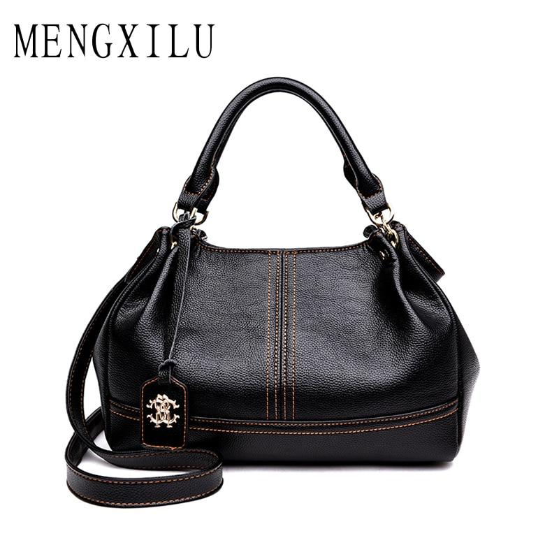 MENGXILU Fashion Women Bag Ladies Hand Bag Shoulder Bags Designer Handbags High Quality Pu Leather Female Handbag Bolsas Sac
