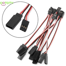 10Pcs 100mm Lead Servo Extension Wire Cable Cord For Futaba JR Male To Female