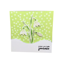Eastshape Flower Clear Stamps and Dies Lily of The Valley Metal Cutting for Craft Scrapbooking Album New 2019
