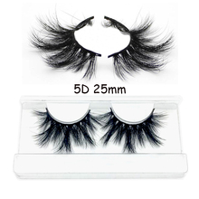 12 styles 5D real mink 25mm lashes extra length eyelashes Big dramatic luxury strip custom packaging paper box