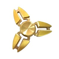 Portable Cool Gold Tri Spinner Fidget Toy Pattern Hand Spinner Brass Fidget Spinner And DHD Children