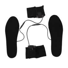 1Pair Winter Heated Insoles Electric Foot Heater Unisex Skiing Camping Keep Warm With Battery Box