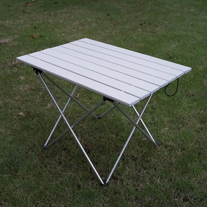 Image 5 - ALWAYSME 57x40x41CM Colorful Aluminium Alloy Outdoor Folding Table Hiking Camping Table Waterproof Folding Table Desk For Picnic