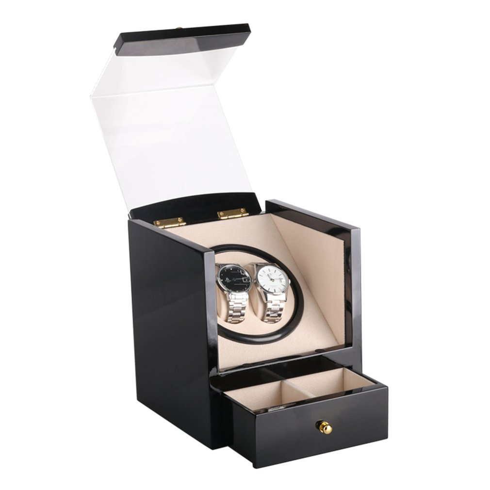Automatic Watch Winder For Mechanical Watch Box Holder Display Winding Jewelry Storage Watches Box Case High Gloss Paint Gift|Watch Winders|   - title=