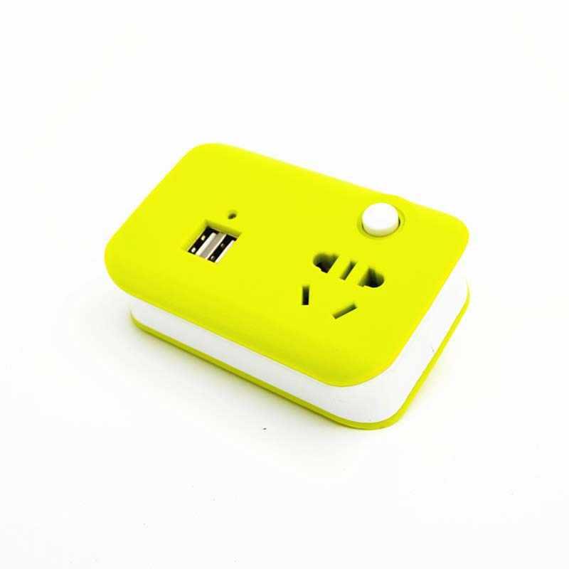 Мини Портативный Расширенный домашний TraveI электрическая розетка США розетка переходник адаптер с двойной USB с выключателем