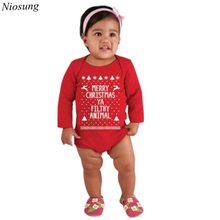 Niosung Cute Baby Kids outfits Romper Christmas Jumpsuit Outfit Set Kids Clothes Kids Girl Boy Christmas Gift