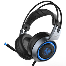 Somic G951 Wired Headphones with Microphone Gaming Headset Gaming Headphones Usb Earphone Bass Stereo Sound  Headset Gamer somic g926 wired earphone usb gaming headset stereo headphone with microphone for computer pc gamer