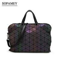 Fashion Baobao Bag Diamond Geometry Laser Luminous Bao Bao Bag Folding Handbag Tote Women With Logo