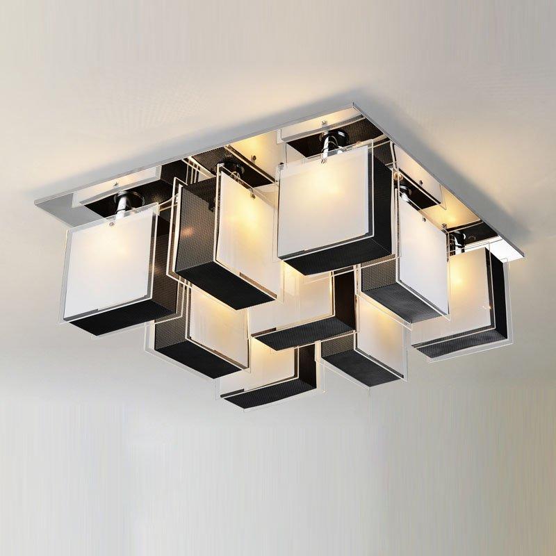 Modern Creatived Aluminum Glass Desk Ceiling Light Punk