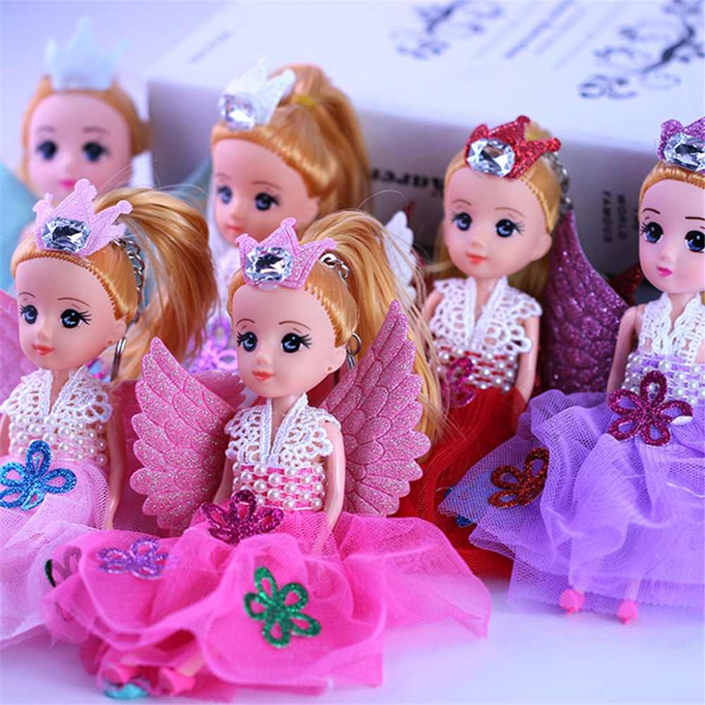 "7"" Glittering Angels Dolls With Wings Toy For Girls Toys Birthday Gift"
