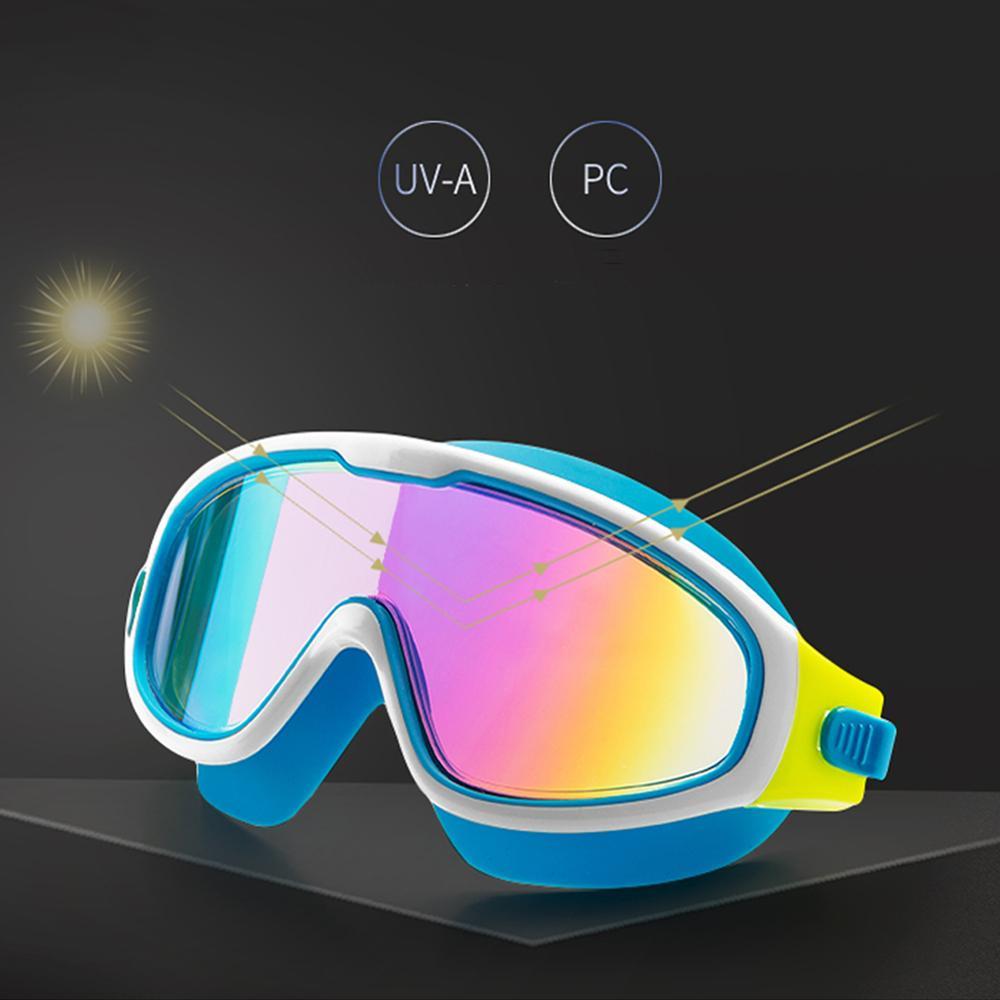 Anti-Fog Swim Eyewear Children Silicone Swimming Goggles Boys Eyewear Waterproof Diving Swim Glasses With Earplugs New