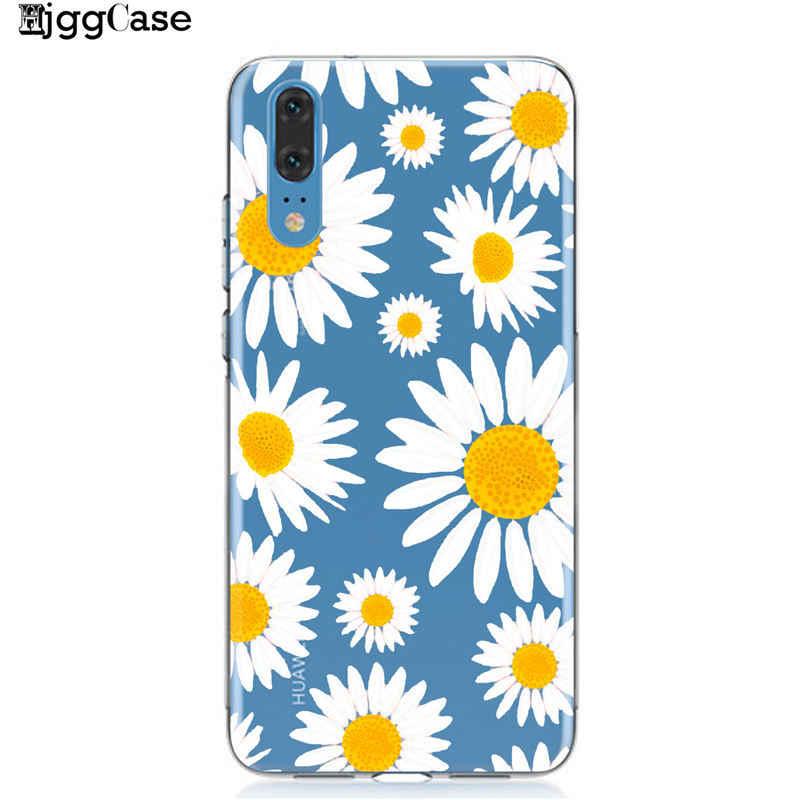 Mùa hè Daisy Hoa Hướng Dương Hoa Trường Hợp Điện Thoại Coque Đối Với Huawei P20 P10 P30 Người Bạn Đời 10 20 Lite Pro Honor 9 10 Lite 8X 8C Y9 2019
