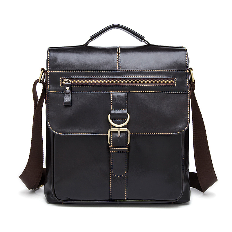 Genuine Leather Men Shoulder Bag Casual Vintage Male Tote Fashion New Laptop Messenger Bags Leather Handbags Crossbody Men's Bag women shoulder bags leather handbags shell crossbody bag brand design small single messenger bolsa tote sweet fashion style