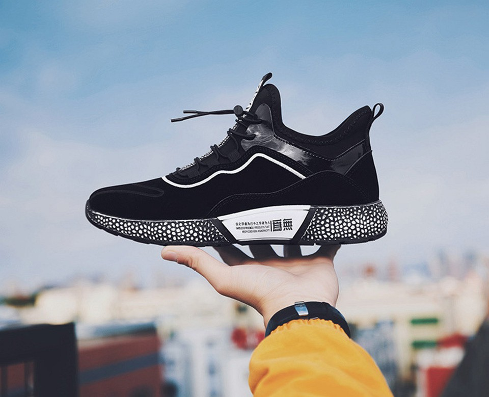 MUMUELI Gray Black Leather 2019 Designer Casual Breathable Shoes Men High Quality Fashion Luxury Ultra Boost Brand Sneakers L771 16