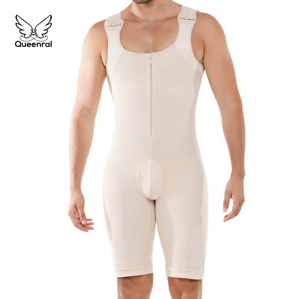 Image 5 - Bodysuit Men Weight Loss Shapewear Full Body Shapers Slimming Plus Size Open Crotch Abdomen Shaper Waist Trainer Underwear S 6XL-in Shapers from Underwear & Sleepwears