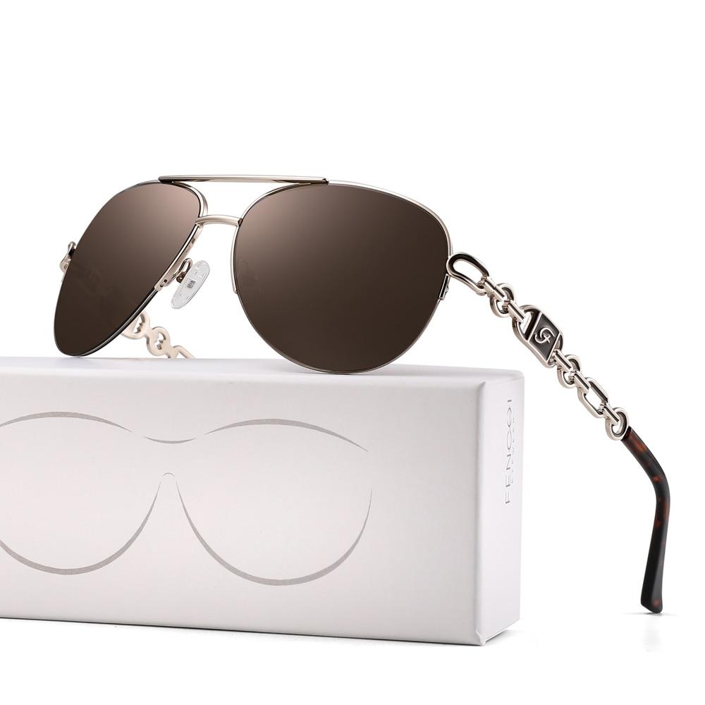 FENCHI sunglasses women uv 400 oculos female glasses sun glasses mirror Pilot Pink feminino zonnebril dames gafas de sol mujer 16