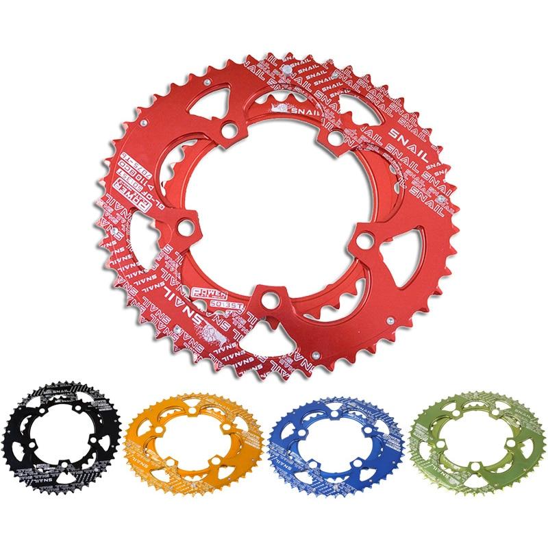 700C Road Bicycle 110BCD 50/35T Bike 7075-T6 Alloy Oval Chainwheel Kit Ultralight Ellipse Climbing Power Chain Plate Set
