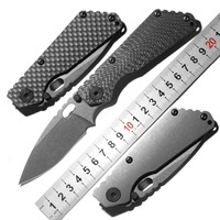 DICORIA SNG folding knife D2 blade Copper washers bearing carbon fibre titanium camping hunting outdoor fruit Knives EDC tools