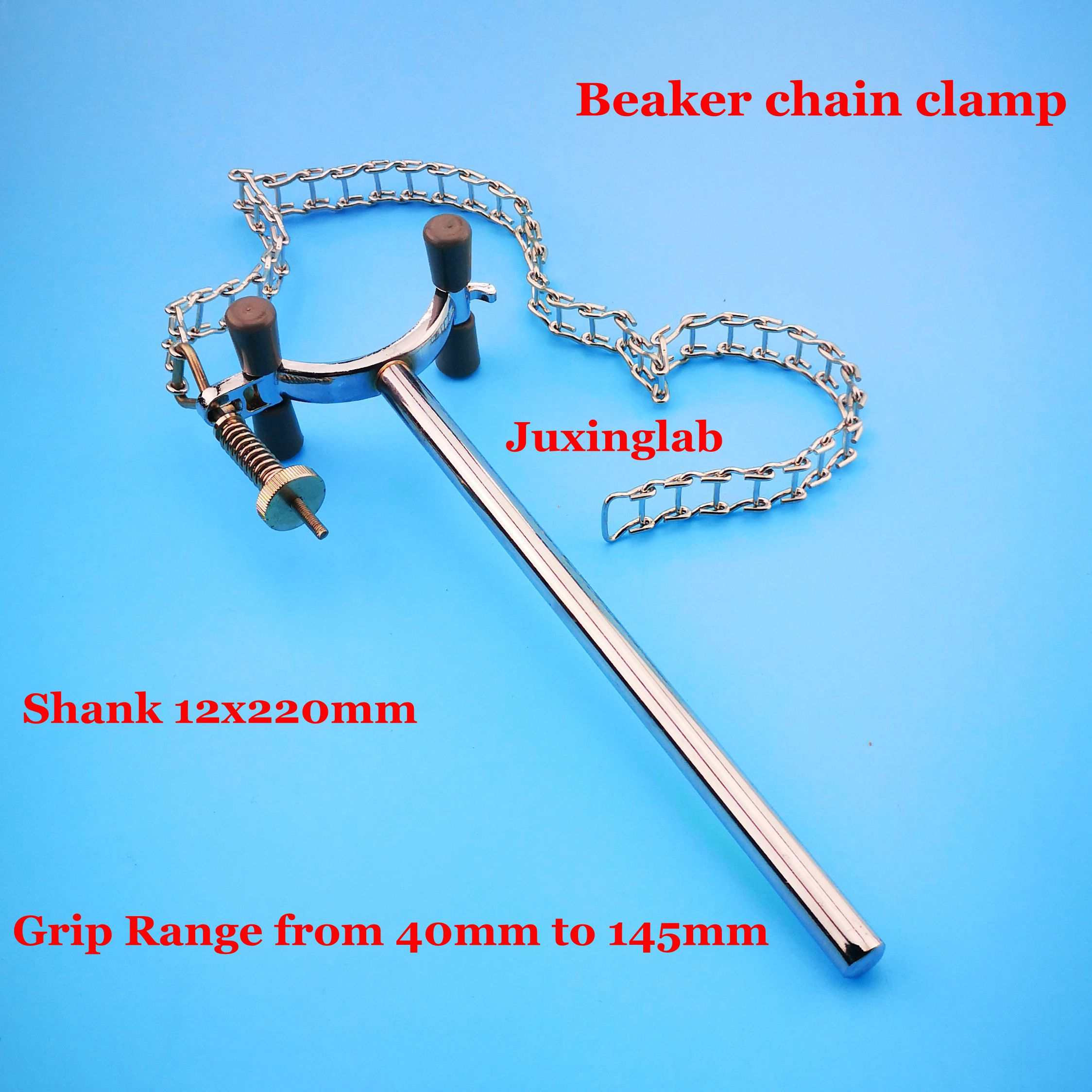 Laboratory Beaker Chain Clamp With Chain And Spring, Made Of AISI304 Stainless Steel For Dia. 40-145mm