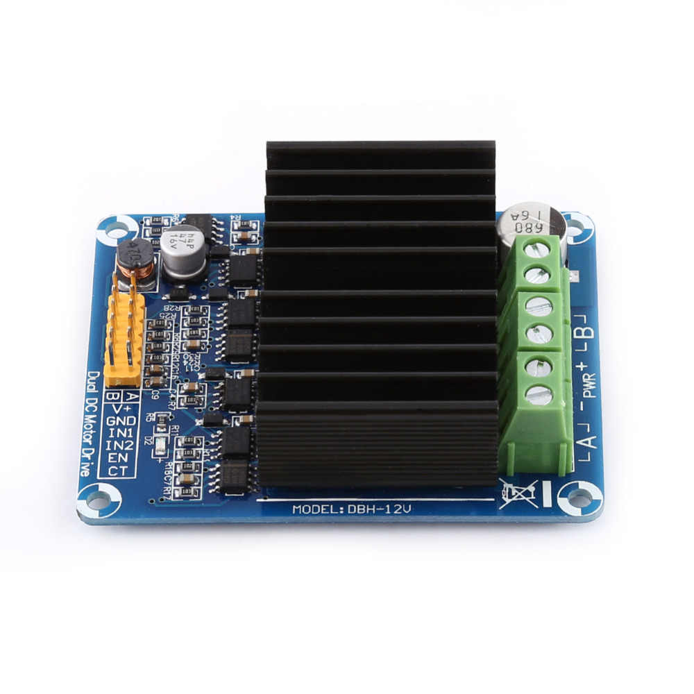 1Pc DC 5-12V Dual Channel H Bridge Controller Board Module 0A-30A Motor Speed Driver Controller Board Module for Toy Car Motors etc