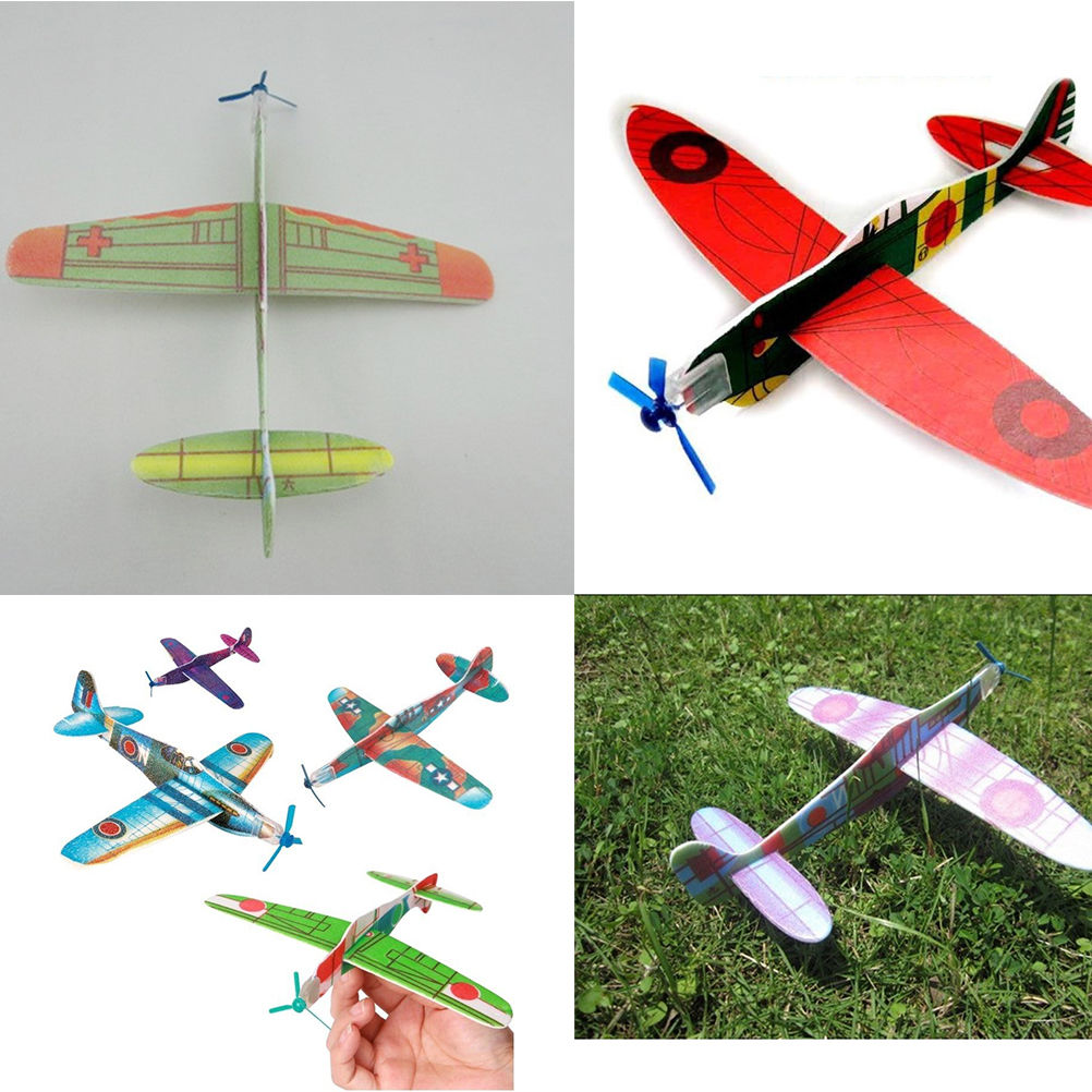 12Pcs Newest Gift Model Fantastic Flying Glider Planes Aeroplane Party Bag Fillers Childrens Kids Toys Good Quality